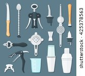 vector colorful flat design... | Shutterstock .eps vector #425378563
