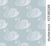 Swan Pair Seamless Pattern. ...