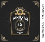 vintage frame label for whiskey ... | Shutterstock .eps vector #425382784