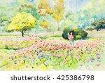 Watercolor Original Landscape...