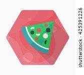 pizza icon   vector flat long...   Shutterstock .eps vector #425391226