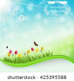 biodiversity meadow background... | Shutterstock . vector #425395588
