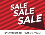 sale background vector | Shutterstock .eps vector #425397430