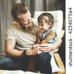 Small photo of Daughter Kid Girl Leisure Father Adolescence Concept