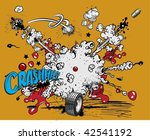 Comic book explosion - crash - stock vector
