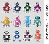 robotics technology system icon ...