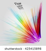 moving colorful lines of... | Shutterstock .eps vector #425415898
