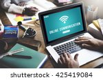 internet wifi connection access ... | Shutterstock . vector #425419084