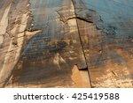 Petroglyphs On The Desert Wall...