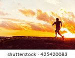athlete trail running... | Shutterstock . vector #425420083