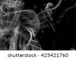 white smoke on a black... | Shutterstock . vector #425421760