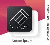 eraser line icon | Shutterstock .eps vector #425422579