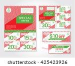 sale flyer  brochure ... | Shutterstock .eps vector #425423926