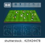 soccer players in different... | Shutterstock .eps vector #425424478