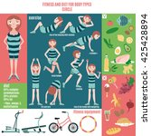 infographic  fitness and diet...   Shutterstock .eps vector #425428894