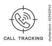call tracking contour icon. the ... | Shutterstock .eps vector #425433913