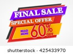 final sale special offer 60  ... | Shutterstock . vector #425433970