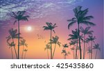 exotic tropical palm trees  at... | Shutterstock .eps vector #425435860