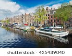 Embankment Of Amstel Canal In...