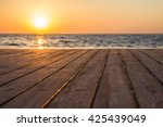 lower deck of diving boat at... | Shutterstock . vector #425439049