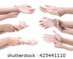 acute pain in a woman wrist....   Shutterstock . vector #425441110
