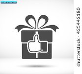 thumbs up gift vector icon