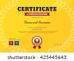 certificate of participation... | Shutterstock .eps vector #425445643