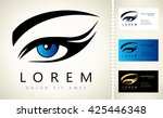 woman eye logo | Shutterstock .eps vector #425446348