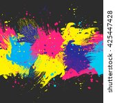 vector dark watercolor... | Shutterstock .eps vector #425447428