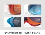 business card vector | Shutterstock .eps vector #425454148