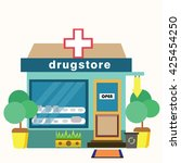 pharmacy. shop for the sale of...   Shutterstock .eps vector #425454250