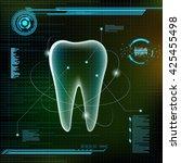 human tooth. futuristic...