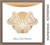 butterfly. laser cut envelop....   Shutterstock .eps vector #425460460