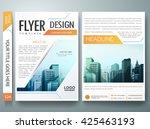 flyers design template vector.... | Shutterstock .eps vector #425463193