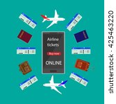 internet airline. booking... | Shutterstock . vector #425463220