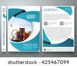 brochure design template vector.... | Shutterstock .eps vector #425467099