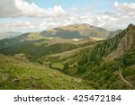 mountain landscape in the... | Shutterstock . vector #425472184