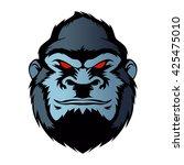 blue gorilla head. | Shutterstock .eps vector #425475010