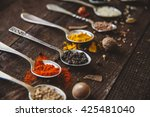 black pepper and other spices... | Shutterstock . vector #425481040