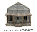 abandoned wooden house isolated ... | Shutterstock . vector #425484478