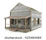 Abandoned Wooden House Isolate...