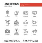set of modern vector plain... | Shutterstock .eps vector #425494933