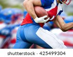 side view of american football... | Shutterstock . vector #425499304