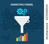 marketing funnel flat style... | Shutterstock .eps vector #425500024