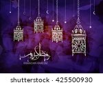 illustration of ramadan kareem... | Shutterstock .eps vector #425500930