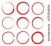 red circle for marking text | Shutterstock .eps vector #425504854