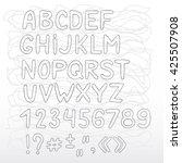 english alphabet. uppercase... | Shutterstock .eps vector #425507908