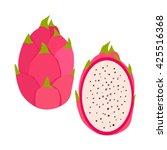 tropical exotic fruit dragon... | Shutterstock .eps vector #425516368