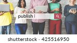publish issue post distribute... | Shutterstock . vector #425516950
