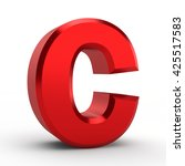 c red alphabet word on white... | Shutterstock . vector #425517583
